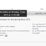 Nhớ đăng ký và thanh toán Spring Race 2015 trước thời hạn 15/01/2015