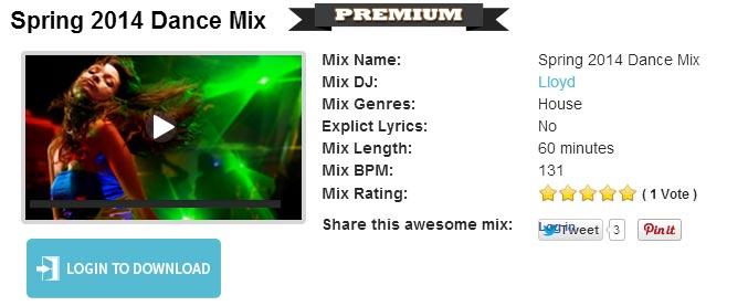 Click vào nút Play bên trái trong trang Rock My Run để nghe thử