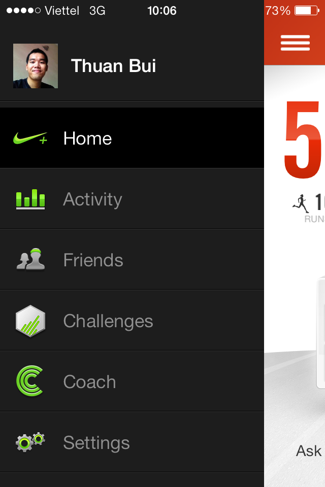 Truy cập tính năng Nike+ Coach