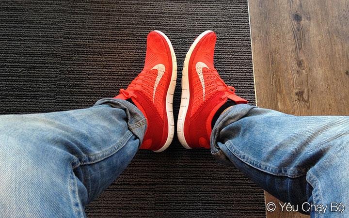 Nike Free Flyknit 4.0 trên chân