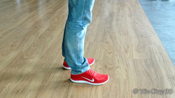 Nike Free Flyknit 4.0 phối với quần Jeans