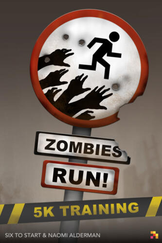 Giao diện ứng dụng Zombies Run 5K Training