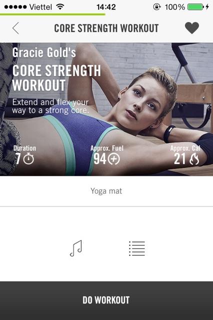 Core Strength Workout - hướng dẫn bởi Gracie Gold