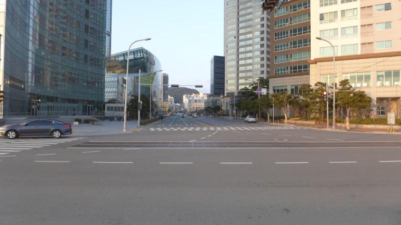 Một góc đường ở Haeundae