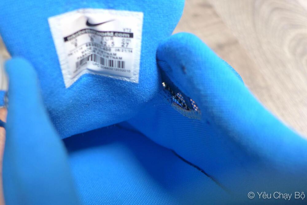 LunarGlide 6 - Độ rộng của giày bị giới hạn do thiết kế lưỡi gà may dính
