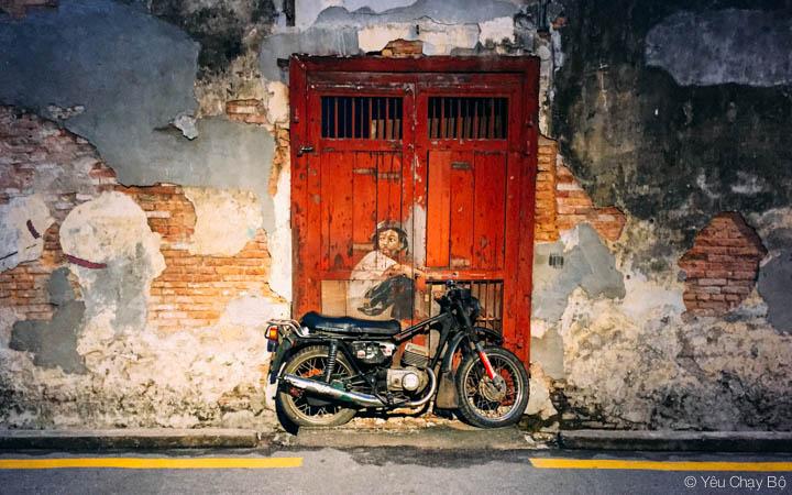 Một trong những tác phẩm nổi tiếng nhất của Street Art George Town.