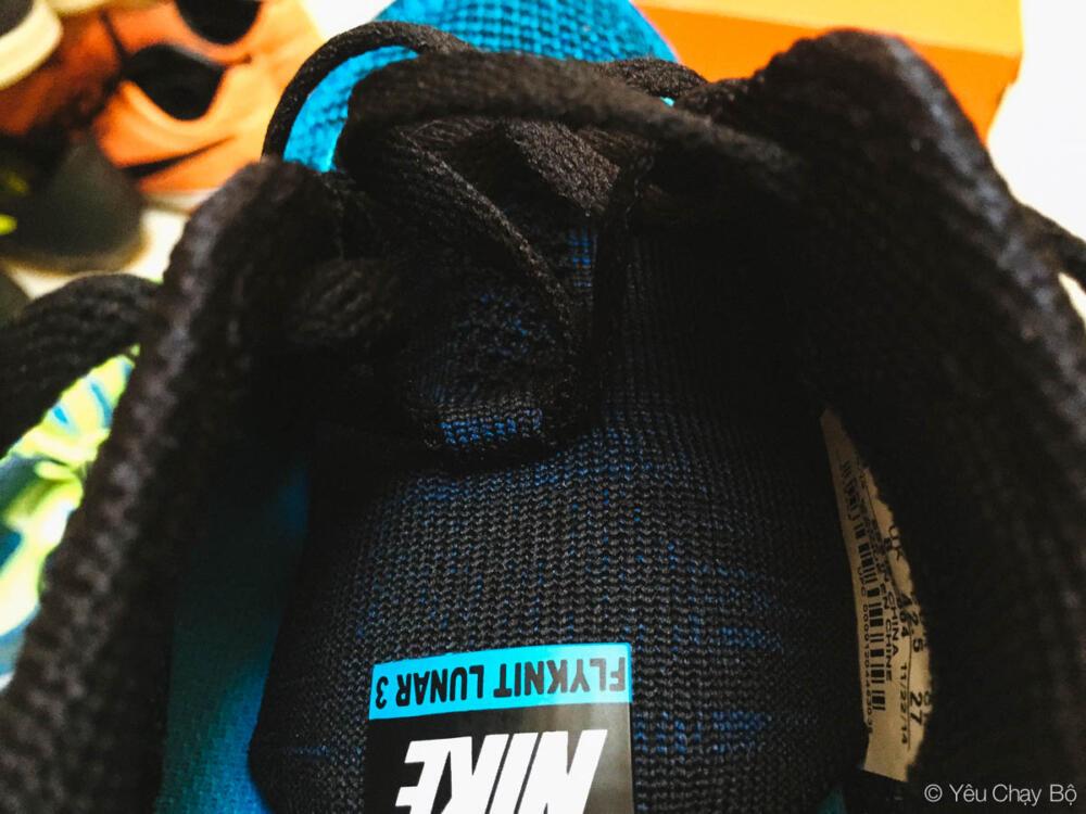 Flyknit Lunar 3 với thiết kế lưỡi gà tách rời với thân giày