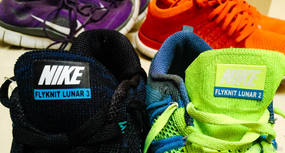 Nike Flyknit Lunar 3 và Nike Flyknit Lunar 2 song kiếm hợp bích