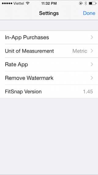 Chọn Unit of Measurement : Metric