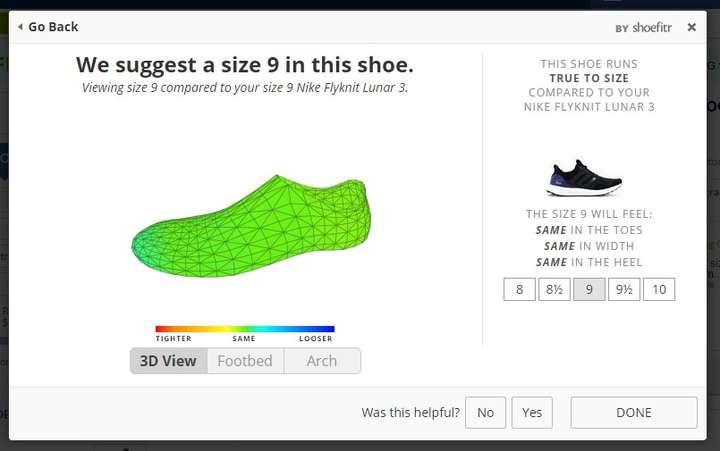 Kết quả: Adidas Ultra Boost size 9