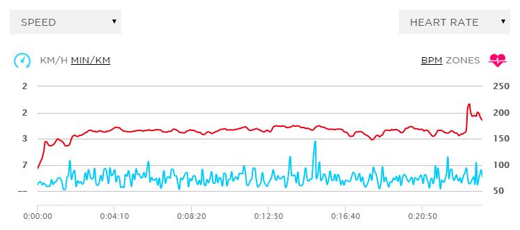 Biểu đồ nhịp tim và tốc độ