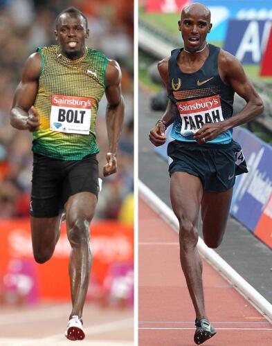 Usain Bolt - Mo Farah