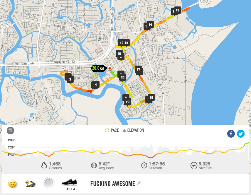 Chinh phuc HCMC Run 2016