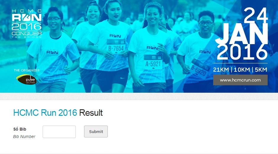 Ket qua HCMC Run 2016