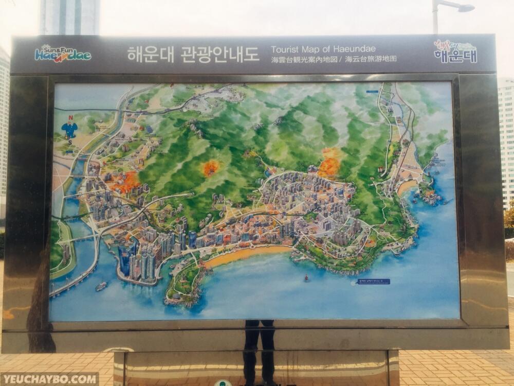 Toàn cảnh quận Heaundea, Busan