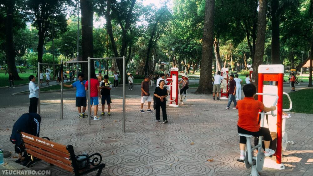 Góc xà đơn - Công viên Tao Đàn