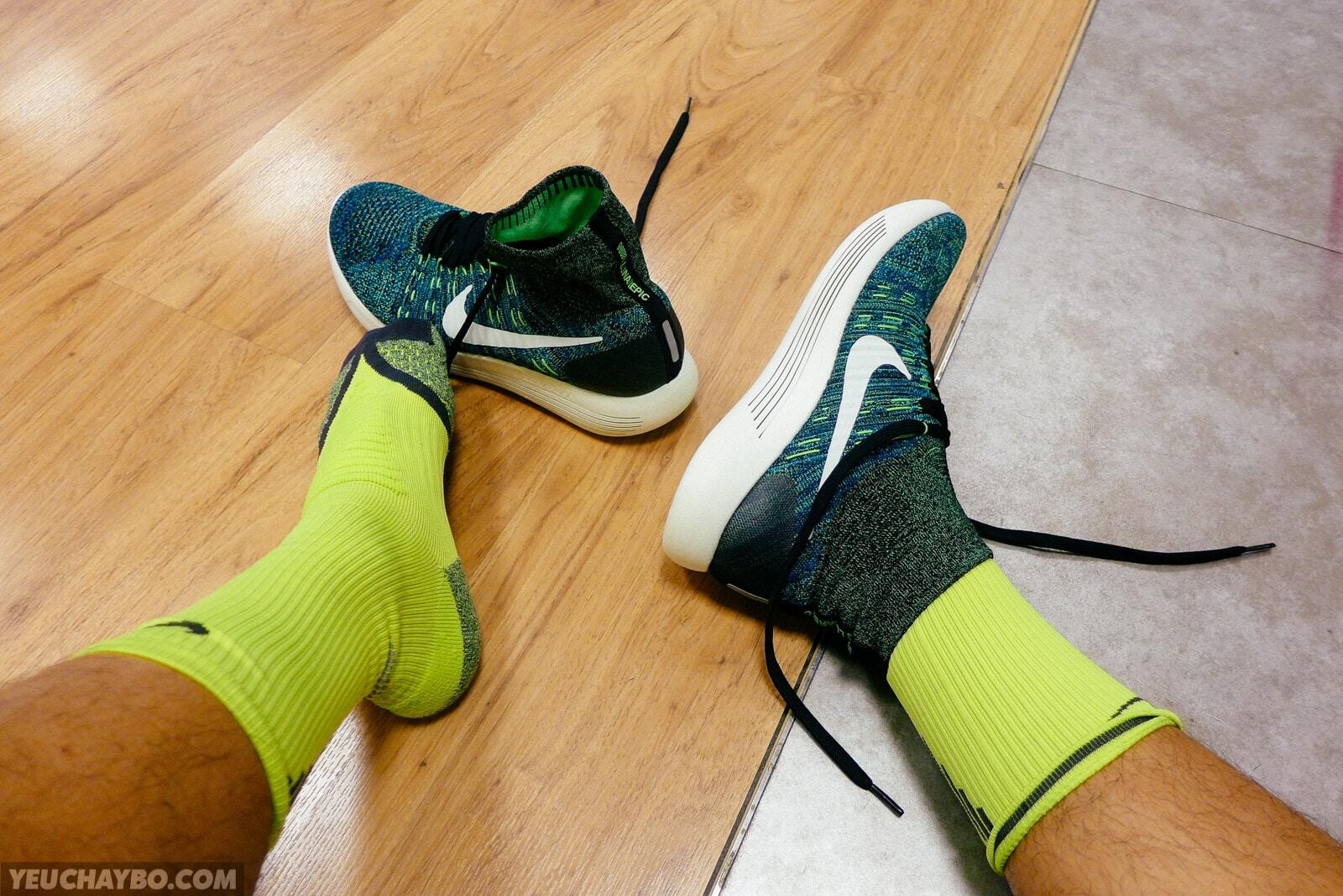 Đánh giá Nike LunarEpic Flyknit sau 50K – Mát, mềm, mượt