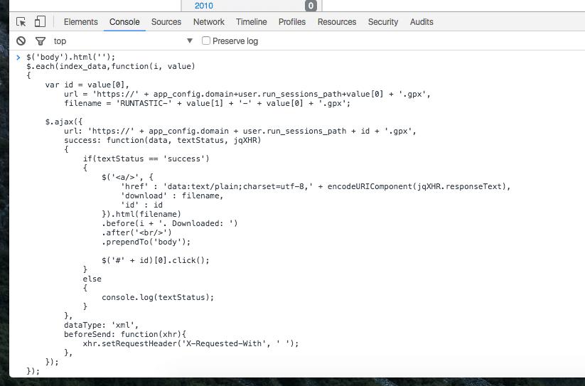 Bấm qua nút Console và paste dòng lệnh vào