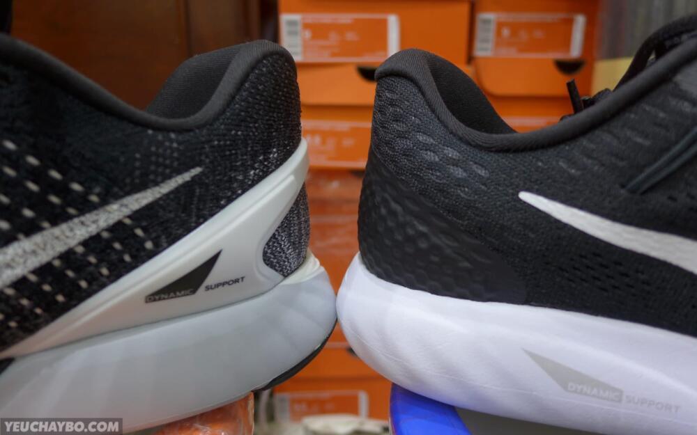 Gót giày: Nike LunarGlide 8 vs LunarGlide 7