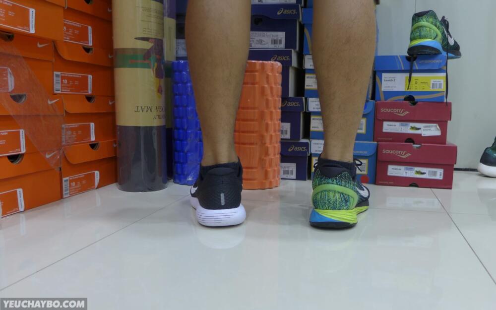 Trên chân Nike LunarGlide 8 vs LunarGlide 7