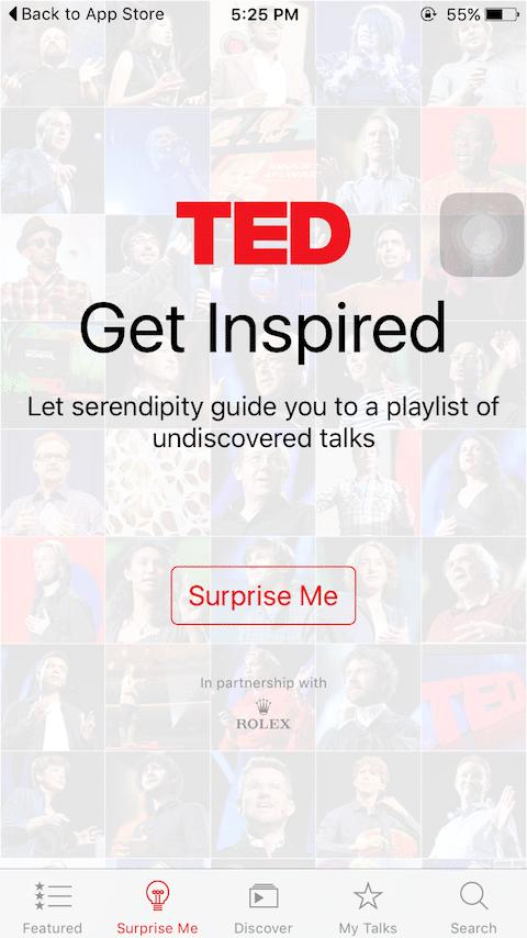 Chức năng Surprise Me giúp bạn tìm kiếm các video trong chủ đề mình yêu thích