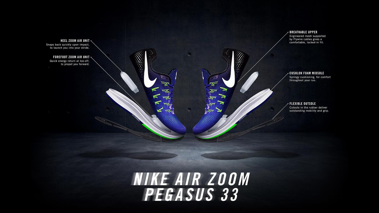 Trên chân Nike Air Zoom Pegasus 33: thêm AIR, thêm êm?
