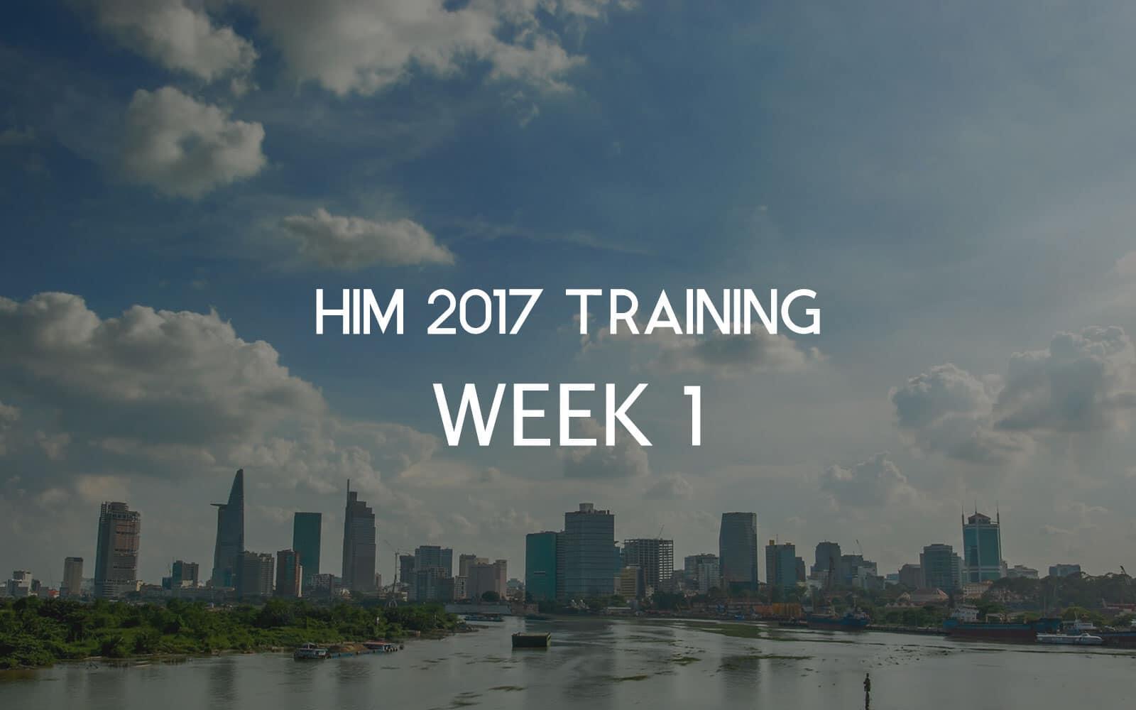 [HIM 2017] Tuần 1 – Làm quen với cường độ 5 buổi chạy / tuần